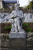 R1388 : Statue of the poet Brian Merriman, Church Street, Ennistymon by P L Chadwick