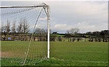 J2983 : Goalposts, Mallusk, Newtownabbey (1) by Albert Bridge