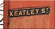 J3574 : Keatley Street sign, Belfast by Albert Bridge