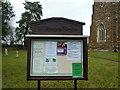 TL2051 : St Mary the Virgin, Everton, Noticeboard by Alexander P Kapp