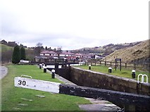 SD9321 : Wintersbutlee Lock on the Rochdale Canal by Raymond Knapman