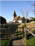 TR1439 : St Mary & St Radegund, Postling, by Peter Skynner