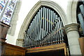 TR0142 : Organ Pipes, St Mary's church. Ashford by Julian P Guffogg