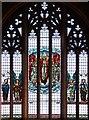 TQ2572 : St Luke, Ryfold Road, Wimbledon Park - Stained glass window by John Salmon
