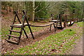 SS9742 : Climbing frame in Hats Wood by Graham Horn