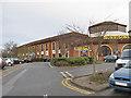 TA0383 : Supermarket car park by Pauline E