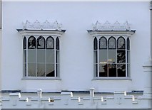 TQ1572 : Gothic oriel windows at Strawberry Hill, Twickenham by Stefan Czapski