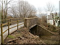 ST1789 : Side view of a road bridge across a dismantled railway, Bedwas by Jaggery