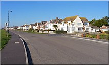 SZ2492 : Houses on Marine Drive East by Mike Smith