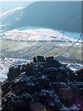 SK1491 : Sentinel - Alport Castles Tower surveys the Alport Valley by Neil Theasby