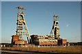 SK5963 : Clipstone Colliery headstocks by Richard Croft