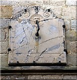 NZ0772 : Sundial on south wall of St Mary's Church by Andrew Curtis