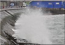 J4791 : Rough sea, Whitehead (3) by Albert Bridge
