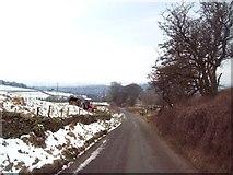 SK0780 : Lane above Blackbrook by Jonathan Clitheroe