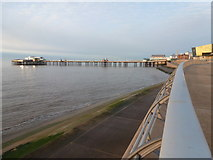 SD3036 : Blackpool: North Pier at high tide by Chris Downer