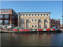 SO8554 : Red and green narrowboat by Peter Barr