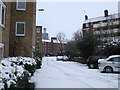TQ2978 : Snow in Bessborough Place, Pimlico by PAUL FARMER