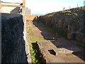 ST2859 : Brean Down - Brean Down Fort Engine House by Chris Talbot