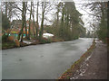 SU8053 : Frozen stretch of the Basingstoke canal by Given Up