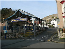 SH7782 : The town station for the Great Orme Tramway by Eirian Evans