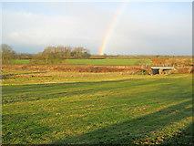 SK8259 : Railway embankment north of Langford by Trevor Rickard