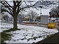 TQ3762 : King Henry's Drive Tramlink Stop by Marathon