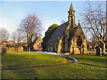 SD6602 : Disused Chapels at Atherton Cemetery. by David Dixon