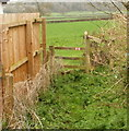 ST4690 : Stile to a footpath from Caerwent to Highmoor Hill by Jaggery