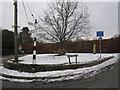 SJ8778 : Oak Road/Priest Lane junction Mottram-St-Andrew by Peter Turner