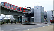 TQ4080 : West Silvertown DLR station by Thomas Nugent