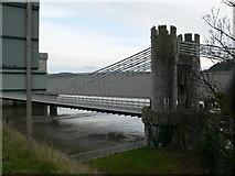 SH7877 : Two bridges, Conwy by Eirian Evans