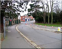 SK8508 : Rail Action at Oakham 09:Bollards on Cold Overton Road by Andrew Tatlow