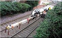 SK8508 : Rail Action at Oakham 07:Crane jib by Andrew Tatlow