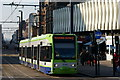 TQ3265 : Tram in George Street, Croydon by Peter Trimming