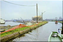 SJ8196 : Bridgewater Canal and Manchester Ship Canal, 1990 by Robin Webster