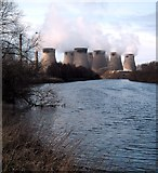 SE4724 : The River Aire and Ferrybridge Power Station by derek dye