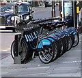 TQ3180 : Barclays Bike Docking Station by Christine Westerback