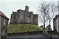 NU2405 : Warkworth Castle from the town by Christopher Hilton