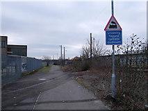 SU1686 : Level crossing, cyclepath beside BMW Mini factory by Vieve Forward