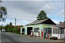 SJ8512 : Turner's Garage at Wheaton Aston, Staffordshire by Roger  Kidd