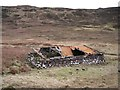 NG3839 : Ruined barn in Glen Bracadale by Richard Dorrell