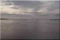 ST5590 : Severn Bridge : The River Severn by Lewis Clarke