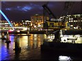 NZ2563 : 'Atlas' floating crane at night by Andrew Curtis