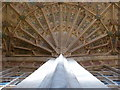 ST6316 : Sherborne: abbey fan vaulting (3) by Chris Downer