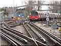 TQ1991 : Tracks southeast of Edgware tube station by Mike Quinn