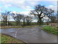 ST5091 : Junction of single track roads at Hayes Gate, near Mounton by Ruth Sharville