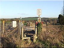 TQ5365 : Railway foot crossing near Eynsford by Malc McDonald