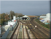 TQ0202 : Railway tracks and carriage sidings, Littlehampton by Malc McDonald