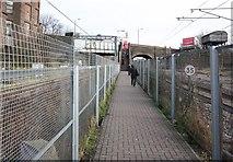 TQ2282 : Walkway from Willesden Junction to High Street, Harlesden by John Salmon