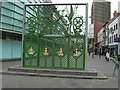 SJ3489 : Liverpool Sailors' Home gate, Canning Place by Eirian Evans